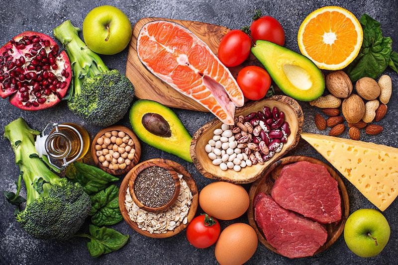 Bild mit Früchten, Gemüse, Fisch