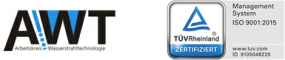 AWT Logo und TÜV Rheinland Logo